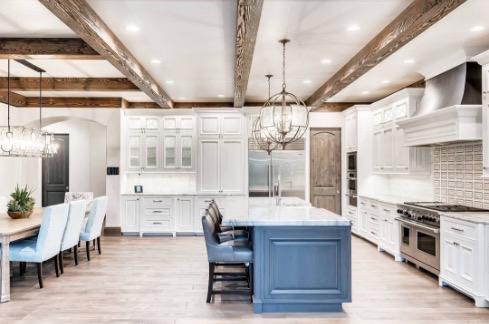 white custom cabinets in white kitchen